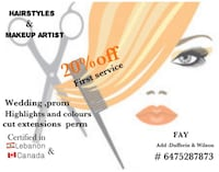Hairstyles and makeup artist Toronto, M3K 1H5