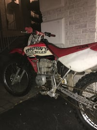 Red and white honda motocross dirt bike Wayne, 07470