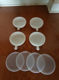 Moving Sale - 4 Small White Bowls with Lid - set for $10 only Toronto