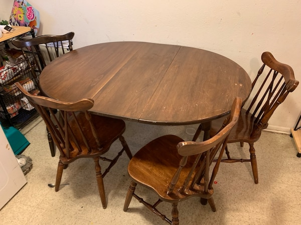 Vintage Dining Table And 4 Chairs Homehome Garden Wheat Ridge