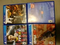 four assorted PS4 game cases Millbrook, L0A 1G0