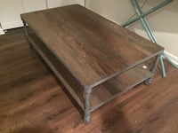 rectangular brown wooden coffee table Hinsdale, 60521