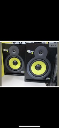 black and yellow subwoofer speaker San Francisco, 94112