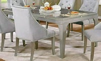 $0 Down Payment / New 7 piece luxury dining set