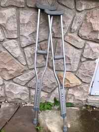 NEW adjustable aluminum walking crutches with underarm pads and handgrip, Adult, 1 pair Richmond Hill, L4C 6L7