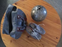 bowling ball and pair of gray sneakers Tallahassee, 32310