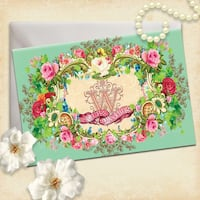 Vintage Wedding Invitations in mint green, pink, lilac, blue and beige Toronto