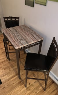 High top table & 2 chairs