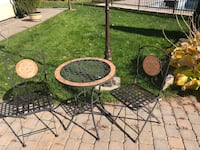 outdoor / indoor chair and table Laval