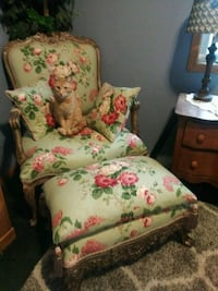 Beautiful chair and foot stool