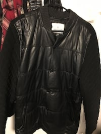 black leather zip-up jacket Toronto, M6J 1N9