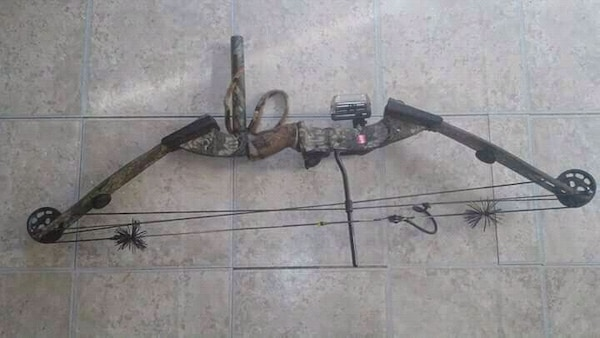 black steel compound bow