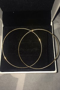 Real gold hoops Toronto, M5V 3A9