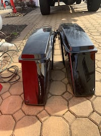 HD StreetGlide hard bags and fender extension (2012 & similar)