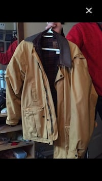 Brown and black zip-up jacket Airdrie, T4B 2A5