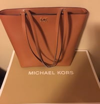 Women's brown michael kors leather tote bag 14 km
