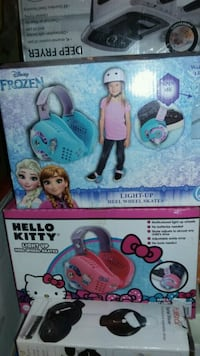blue and pink Disney Frozen toy box Bell, 90201