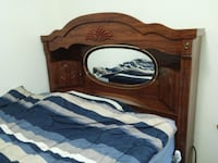 brown wooden bed frame with mattress Midwest City, 73130