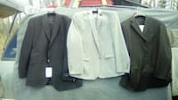 three white and black formal suit jackets Calgary, T2M
