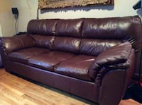 Brown real leather 3-seat sofa New York, 10128
