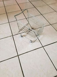 VINTAGE SMALL METAL TOY GROCERY CART