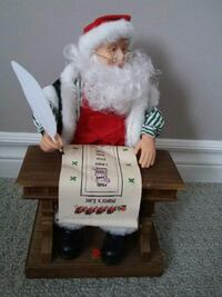VINTAGE MUSICAL SANTA FIGURINE PLAYS SONG 'SANTA CLAUS IS COMING TO TOWN' - LIKE NEW London