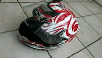 black, red, and white full face helmet Oklahoma City, 48311