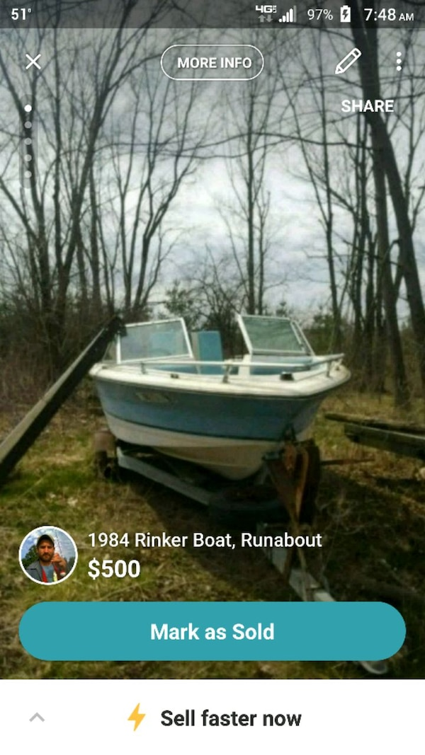 1984 Rinker Boat, Runabout