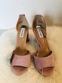 pair of brown leather open toe ankle strap heels Hyattsville, 20782
