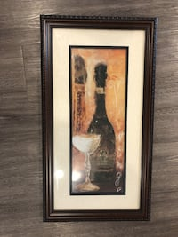 Brown wooden framed painting of wine  Austin, 78745