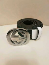 black and gray Gucci leather belt Laval, H7T 3A7