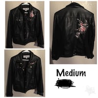 black leather zip-up jacket Midwest City, 73130