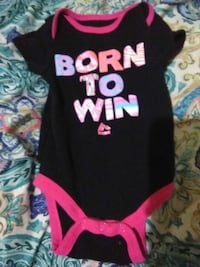 black and pink Born To Win printed onesie Nacogdoches, 75964