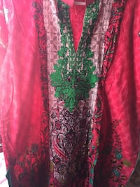 women's red and green floral dress Brampton, L6V