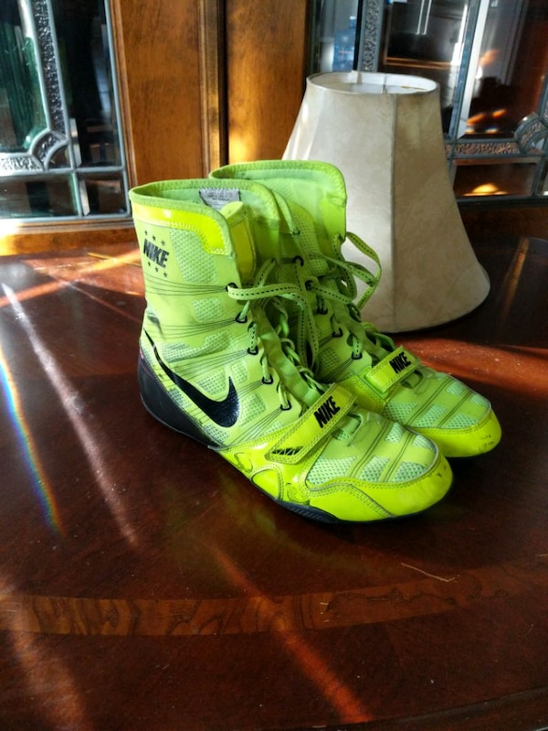 9aefff595d258 Used green-and-black Nike boxing shoes for sale in Detroit - letgo