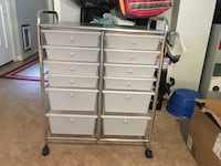 Rolling storage cart with 12 drawers Falls Church, 22046