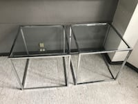 two clear glass-top tables TORONTO