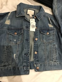 blue denim button-up jacket Mississauga, L5M