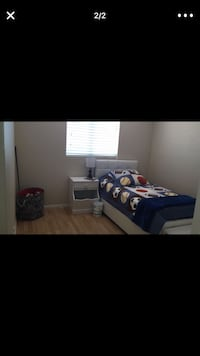 Double tween bed, mattress, night table and trunk. Chula Vista, 91915