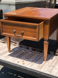 Nice sterdy wood nightstand with top drawer  Carnegie, 15106