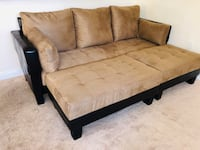 brown and black fabric sectional sofa 927 mi