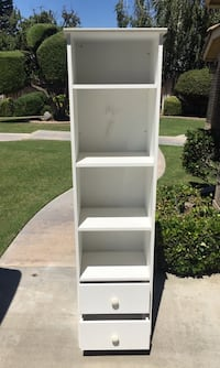 65 inch high x 17 inch wide x 12 inch deep white cabinet with 2 drawers Bakersfield, 93311