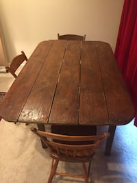 Farm table, with three chairs 26 km