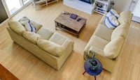 2 Custom couches!! Soft/muted-neutral mustard yellow Arlington, 22207