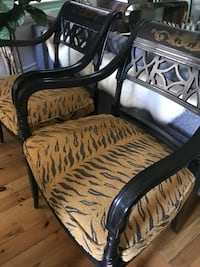 Pair of Antique Tiger Chairs Toronto, M6H 1L2