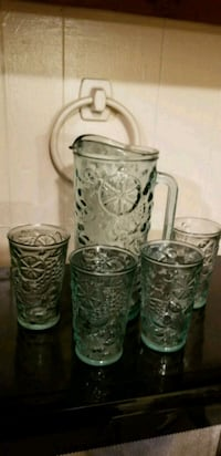Vintage Glass Pitcher and Glass Set Baltimore, 21218