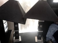 Set of Black Shade Table Lamps