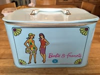 Vintage 1960s Barbie & Francine vinyl carrying case