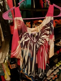 women's pink and black scoop neck dress Fayetteville, 28304