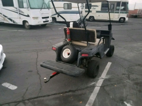 golf cart, lifted, very fast, tow hitch